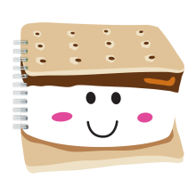 Smiley S'more Scented Notebook