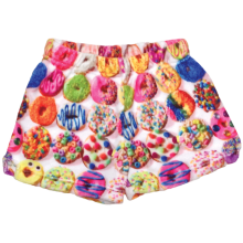 Assorted Donuts Plush Shorts