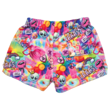 Psychedelic Collage Plush Shorts