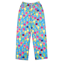 Watercolor Cones Plush Pants