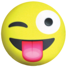 Crazy Face Emoji Microbead Pillow