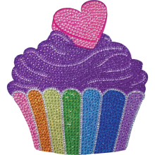 Cupcake Rhinestone Decals Large