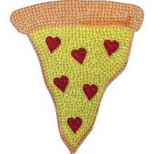 Pizza Slice Rhinestone Decals Small