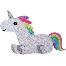 Rainbow Unicorn Rhinestone Decals