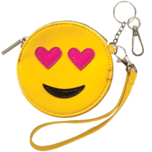 Heart Eyes Emoji Purse Key Chain