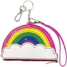 Rainbow Purse Key Chain