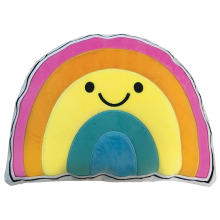 Rainbow with a Smile Scented Embroidered Pillow