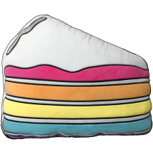 Slice of Cake Scented Embroidered Pillow