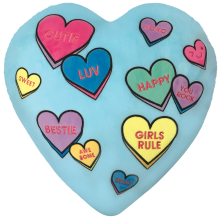 Candy Hearts Scented Embroidered Pillow