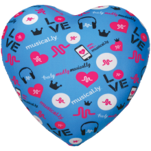 Musical.ly™ Heart Microbead Pillow