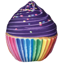 Rainbow Cupcake Microbead Pillow