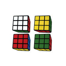 Rubik's® Cube 3D Mini Eraser Set