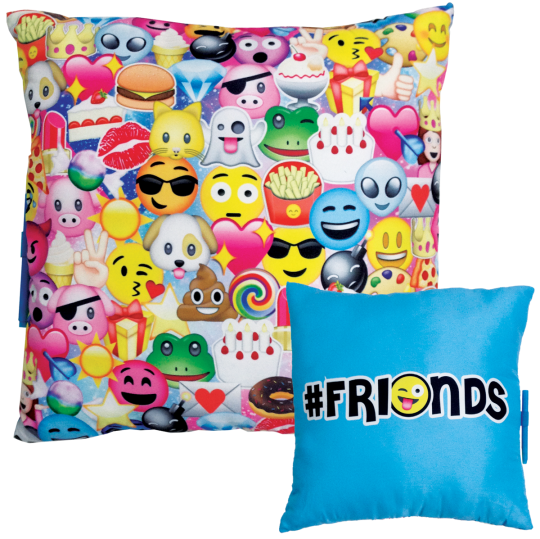 Picture of Emoji Collage Autograph Pillow