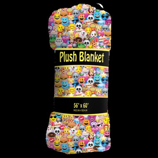 Picture of Emoji Collage Plush Blanket
