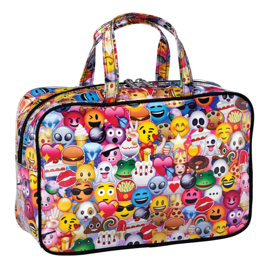 Picture of Emoji Collage Large Cosmetic Bag