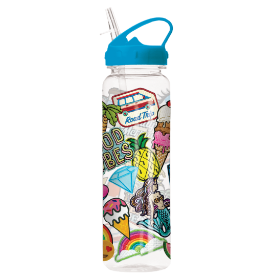 Picture of Embroidered Patches Water Bottle