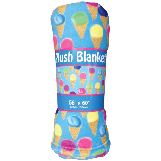 Picture of Water Color Cones Plush Blanket