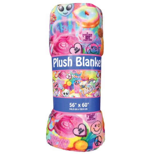 Picture of Psychedelic Collage Plush Blanket