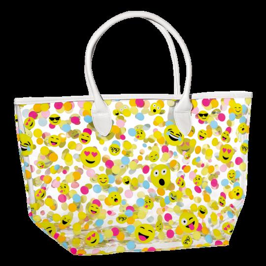 Picture of Confetti Emojis Clear Tote Bag