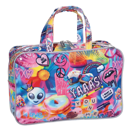 Picture of Psychedelic Collage Large Cosmetic Bag
