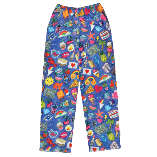 Picture of Embroidered Patches Plush Pants