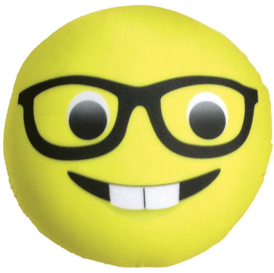Picture of Nerd Emoji Microbead Pillow