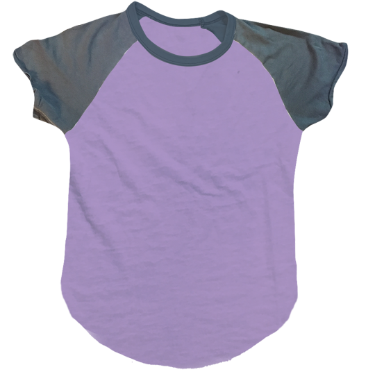 Picture of Lavender/Purple Short Sleeve Baseball Shirt