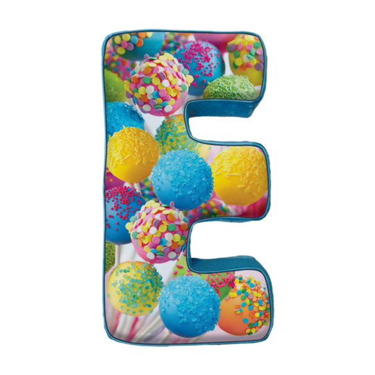 Picture of E Initial Microbead Pillow