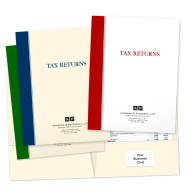 Picture for manufacturer Designer Tax Return Folders (Bold Stripe)