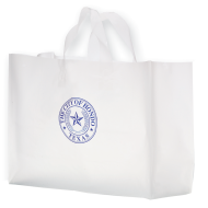 Picture for manufacturer Clear Frosted Shopper Bag - 16 x 12 x 6