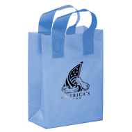 Picture for manufacturer Colored Frosted Shopper Bag - 8 x 11 x 4