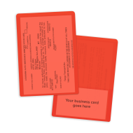 Picture of Orange Insurance Card Holders