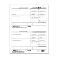 Picture for manufacturer Form W-2 - Federal IRS and Record - Condensed - 2up (5212)
