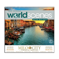 Picture for manufacturer World Scenes with Recipes Wall Calendar