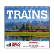 Picture for manufacturer Trains Wall Calendar