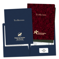 Picture of Foil Stamped Tax Return Folders