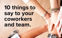 10 Phrases That Build a Pleasant Work Environment