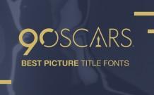 2018 Oscar Movie Poster Fonts