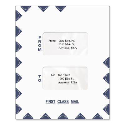 Picture of 9.5 x 11.5 Large Window Tax Software Envelope