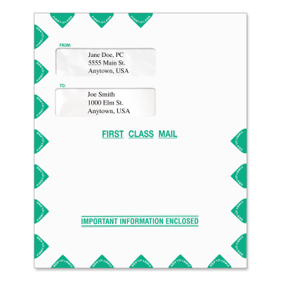 Picture of 9.5 x 11.5 Small Window Tax Software Envelope
