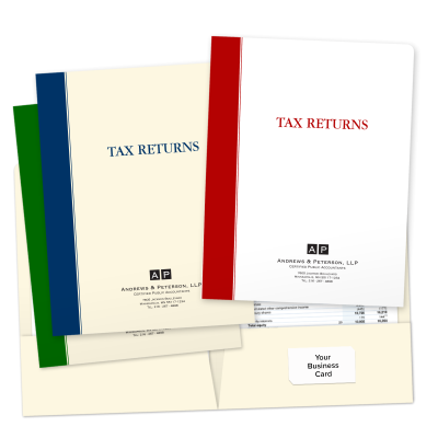 Picture of Designer Tax Return Folders (Bold Stripe)