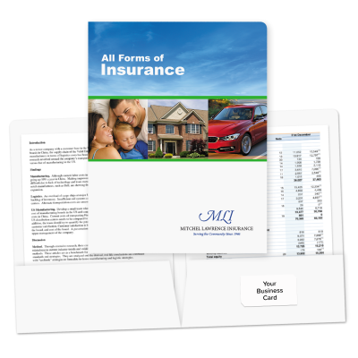 Picture of Pre-Designed Insurance Folders (Blue Sky)