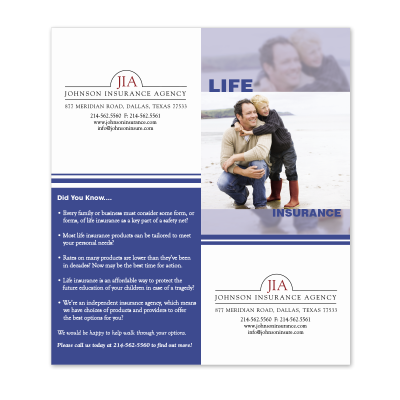 Picture of Life Insurance Cross-Sell Brochure