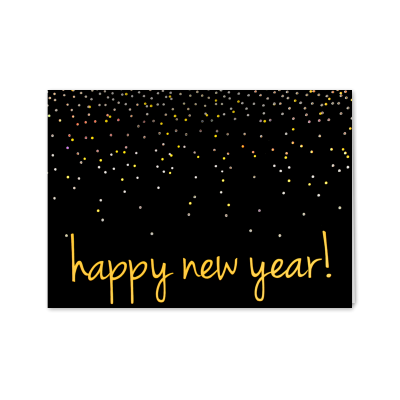 Picture of Confetti Happy New Year Greeting Card