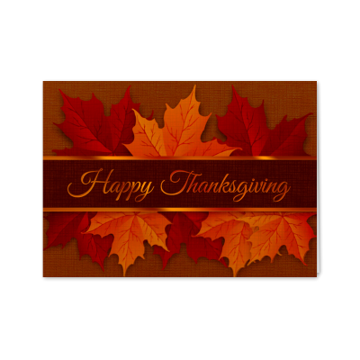 Picture of Thanksgiving Autumn Leaves Greeting Card