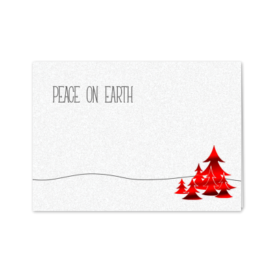 Picture of Red Peace On Earth Greeting Card
