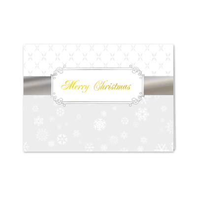 Picture of Silver Christmas Ribbon Greeting Card