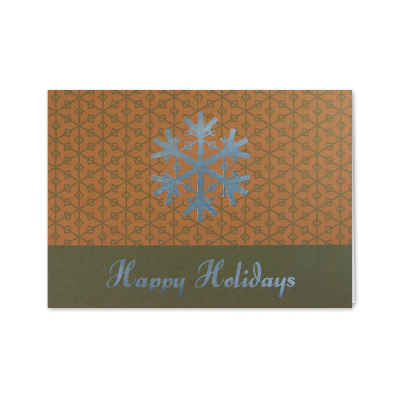 Picture of Silver Snowflake Greeting Card