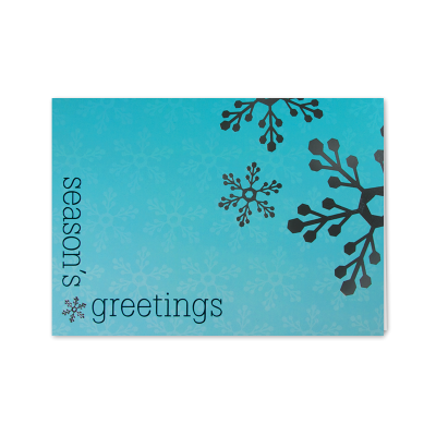 Picture of Silver Snowflakes Greeting Card