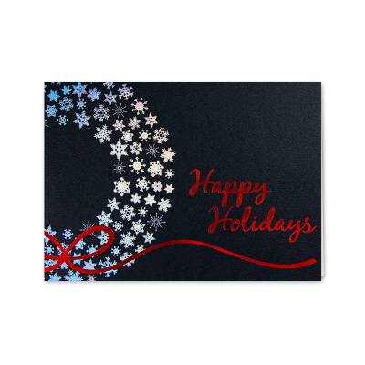 Picture of Silver Snowflakes Wreath Greeting Card